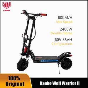 Original Kaabo Wolf Warrior II Smart Scooter Electric Scooter Deux roues Plous Skateboard Nouveau Design 11inch 60V 35ah LG Batterie LG LITHIUM