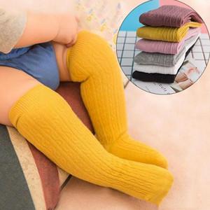 Ins Baby Qualität Socken Jungen Mädchen Neugeborenen Kleinkind Knie Hohe Socke Baumwolle Massivfarbe Mädchen Junge Socken Säuglingskinder Lange Socke WY1030