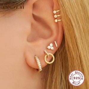 Roxi Geometria Triângulo Rodada Brincos Para As Mulheres Meninas Brincos incomuns Piercing 925 Sterling Silver Jewelry Pendientes Presente
