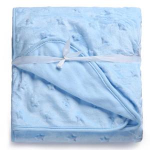 KiddieZoom Cobertor bebé niños niños niñas suave coral manta 100 * 75cm mantas recién nacidas Rosa blanca al por menor
