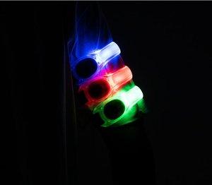 Uyarı Kol Kemerleri Kayış Spor Koşu Koşu Bisiklet Güvenlik Bantları Açık Sabit Yanıp Sönen LED Aydınlık Glare Glow Işık Kol Bandı