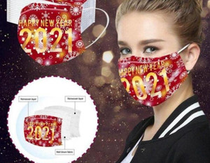 3 Mask Masks Masks Decoration HWC4201 Disposable Fashionista Adult Face Layered Dustproof Mouth Party Print Protective Cover Breathable Noke
