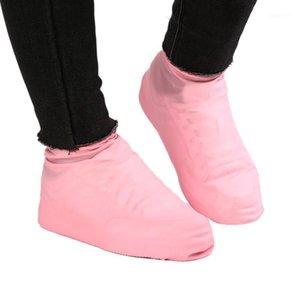 1 Çift Kayma Dayanıklı Katı Kauçuk Ayakkabı Kapağı Yüksek Kaliteli Lateks Su Geçirmez Ayakkabı Kapakları Zorlu Pembe Kullanımlık Kapakları1