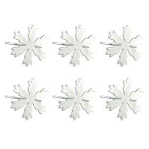 4pcs NAPKIN Rings Snowflake Metal Porte-serviettes Dîner Accessoire pour les fêtes Mariages Banquets Noël