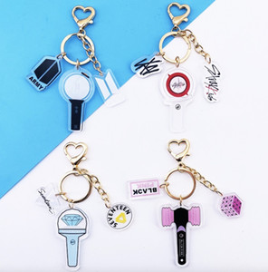 8pcs lot free shipping bts blackpink straykids seventeen keychain pendent for free shipping