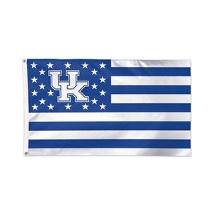 Kentucky Wildcats UK Stars Stripes Flagge NCAA Team Flagge 3x5ft doppelt genäht Banner 90x150cm Sportfestival Digital gedruckt