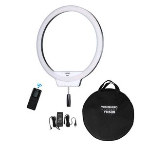 Free DHL Yongnuo YN608 3200-5500K Bi-color  5500K White CRI95+ Wireless Remote Led Ring Video Live Selfie Fill Light Lighting