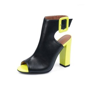 Sandals female summer 2020 new high-heeled fish mouth shoes sexy rough with Roman women's shoes Elegant sandalias mujer 20201