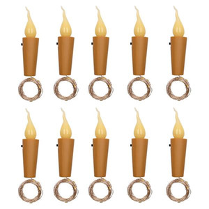 Best seller 10x Warm Wine Bottle Candle Shape String Light 20 LED Night Fairy Lights Lamp Discount