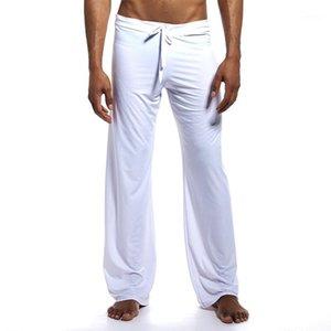 Мужские брюки йоги Эластичные пояс Фитнес-тренировочные пробежки Свободные легкие брюки Пляж мода Повседневная штанты1