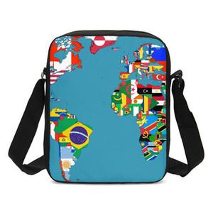 Черный Женщины Посланника Карта мира Sekai Crossbody сумка для мальчиков девочек BOLSOS Mujer Feminina Сак Main Femme Q1116