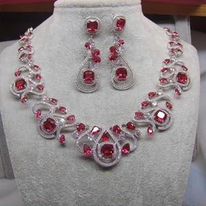 jewelry set Necklace earrings sets designer jewelry luxury pendant women earrings gift luxury jewelry for woman 3A zircon yellow