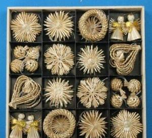 Ornamenti dell'albero Impostare la paglia di grano in tessuto festival decorazione Decorazioni natalizie in vendita online Natale decorazione Zgox # Bbyahot