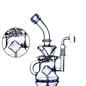 Beaker Bong Smoke Pipe Dab Accessories Thick Glass Water Bongs Recycler Oil Rigs Wax Hookahs Shisha With 14mm banger