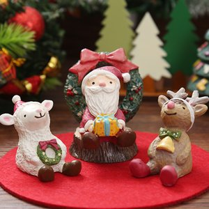 Life Pavilion Christmas gifts Santa Claus looks up to star sky home resin arts and crafts decoration wholesale