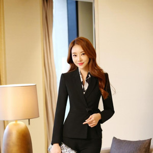 New Formal Professional Business Women Blazers Coat for Ladies Office Jackets Blazer Tops Uniforms Beauty Salon Outwear