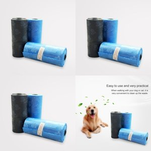 15pcs Pratique Pet Dog Poop Sac Distributeur Distributeur Poubelle Cat Doggy Poo Collection Sacs 447 N2