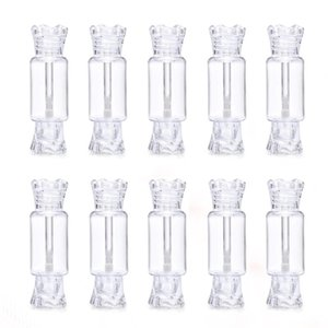 10 20pc 8ml Clear Lip Gloss Candy Tube Empty Packaging DIY Lip Gloss Lipstick Bottle Cosmetic Lipgloss Container Transparent