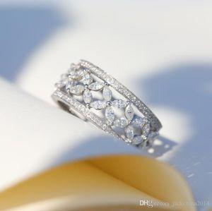 Victoria Wick Top Selling Choucong Neuf Bijoux de luxe 925 Sterling Silver Marquise 5A CZ Diamond Party Bureau Banding Bague Bague