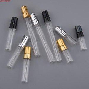 3 ملليلتر 5 ملليلتر 10 ملليلتر مصغرة إعادة الملء عينة العطور الزجاج زجاجة السفر فارغة رذاذ البخاخات زجاجات التجميل التعبئة والتغليف الحاويات