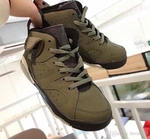 2020 High Quality Kids 6 baby Basketball Shoes Ghost army green kid 6s Boys Sneakers Children Sports trainers size 22-37