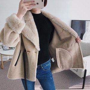 Piel natural, hembra otoño-invierno, corte de pelo de oveja coreano de mujer, abrigo de lana, albergue mujer ropa U5EN