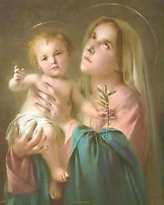 Католические картины Mary W / Baby Иисус Так вдохновляющий дом украшения маслом роспись на холсте настенное искусство холст картинки для декора стен 201119