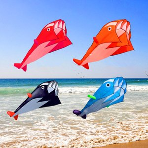 Free Shipping dolphin soft Kite nylon fabric Kite line animated Kites Fishing Inflatable Kite outdoor Toy Fly Parafoil octopus