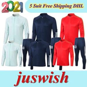 Großhandel Jacke Training Anzug 2020 Top Qualität Spanien Jacke Trainingsanzüge Anzug 2021football Jacke Trainingsanzüge Joggin