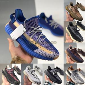 2021 Ash Blue Stone Sand Taupe Taupe Naturel Fade Israfil Yecheil V2 Kanye West Running Shoes 36-48 Mens Entraîneurs avec boîte Femme Sports Sneakers