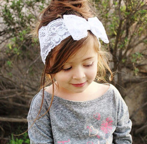 Children Hair Accessories For Girls Baby Headbands Fashion Bow Lace Headband Baby Accessories Hair Bands Hair Things CCA2700
