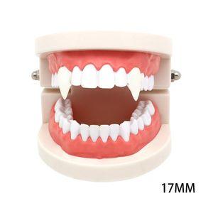 13 15 17 19mm Vampire Teeth Zombie Ghost Teeth Dentures Houndstooth Dentures With Case Halloween Cosplay Props Toy Party