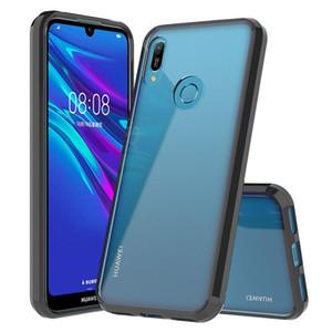 Huawei P 스마트 Z 플러스 2019 Y9 Y7 프라임 Shockproof 하드 커버 용 투명한 명확한 아크릴 TPU 전화 케이스