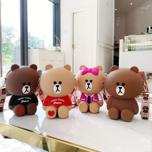 New Style Cartoon Bear Silica Gel Purses And Handbags Soft Handbags Women Bags Shoulder Bag Fashion Crossbody1