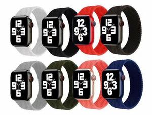 실리콘 꼰 스트랩 밴드 스마트 시계 밴드 Apple Watch Bands 팔찌 iWatch 4 3 2 1 38mm 40mm 42mm 44mm