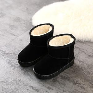 3bct chaude vente-davidyue filles bottes chaudes chaussures gratuites pour bottes d'hiver enfants fourrure à l'intérieur des pantoufles hiver fashiongirls expédition