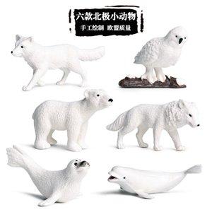 Simulation Animal Model Mini Solid White Whale Polar Bear Seal Arctic Fox Snow Polo Marine Animal Toy