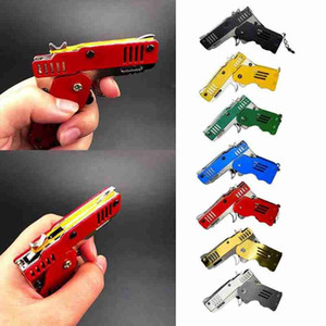 Rubber Band Gun Toy All Metal Mini Can Be Folded As Key Ring Rubber Band Gun Children's Gift Toy Kids Toy Free Shipping