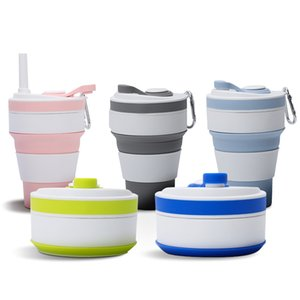 Portable outdoor travel silicone folding cup sports creative silicone folding cup home life convenient telescopic cup T3I51497