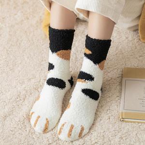 Women Fuzzy Fluffy Thermal Slipper Socks Cartoon Animals Cozy Warm Super Soft Girls Winter Sleeping Socks Indoor Home