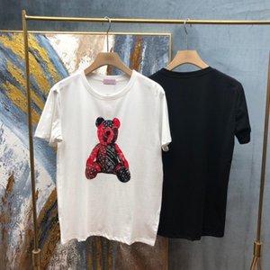 2021 Avrupa Bahar Yaz İtalya Ayı Oyuncak Baskı Güzel Pamuk Tee Kaykay Erkekler T Gömlek Kadın Rahat Tshirt