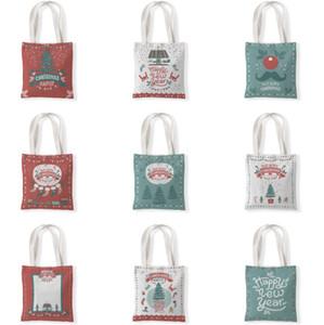 The latest size 33X37CM, Christmas gift bag, Christmas stocking and tree style, one-shoulder bag, handbag, shopping bag, free shipping