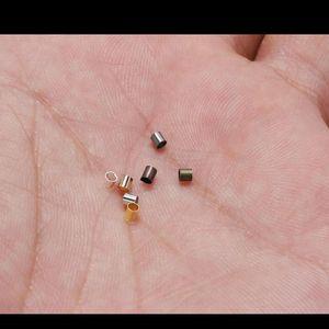 500pcs 1.5 2.0 2.0 2.5mm Tubo de Cobre de Ouro Crimp Beads End Beads Spotper Beads para Jóias Fazer Conclusões Suprimentos Jllizm