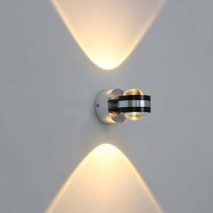 Modern Minimalist Wall Lamps 6W AC85-265V LED Sconce Light Up Down Living Room Bedroom Bedside Lamp Aisle KTV multicolour light