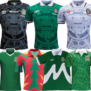 1998 Mexique Retro Soccer Soccerys Blanco Hernandez Blanco Campos Uniformes 1994 Jorge Campos de but de but Football Jerseys Shirt 1986