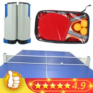 2020 NEW Table Tennis Net Portable Retractable Ping Pong Post Net Tennis Tackets Bracket Rack For Any Table Grid Replacement Kit Z1118