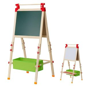 Double Sided Dry Erase Children Kid Stand Easel Storage Painting Art Supplies