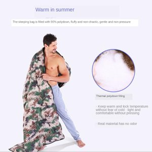 Voyage en plein air Camping Camping Camouflage Sac de couchage Ultra léger imperméable 4 saisons Sac de couchage enveloppe chaud enveloppe