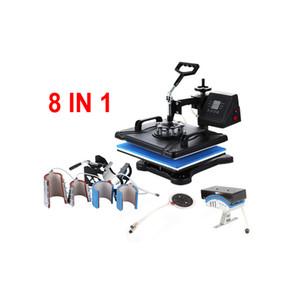 دي إتش إل مجانا التسامي الرقمية machiens 30 * 30 آلة الصحافة الحرارة 8 في 1 آلة نقل الحرارة آلة diy clamshell sublimatio آلة
