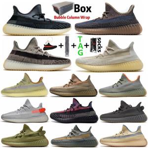 2021 Kanye West Shoes Cauda Luz Yechheil Cinder Reflexivo Mens Mulheres Running Shoe Zebra Criado Terra Natural Sports Ao Ar Livre Sapatilhas
